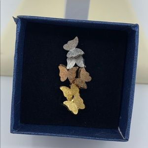 Pack of 3 Butterfly Layered Shimmer Stud Earrings